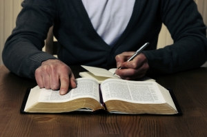 preacher studying